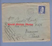 Enveloppe Ancienne - BETTBORN Luxembourg Envoyée Par L' Instituteur - Censure Allemande Nazi Timbre Allemand Hitler 1941 - 1940-1944 Occupation Allemande