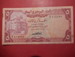 BANCONOTA YEMEN - FIVE RIALS - Yemen