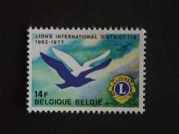 België Belgique Belgium 1977 Lions Club Duif Colombe 1849 Yv 1843 MNH ** - Belgium