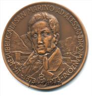 ALESSANDRO MANZONI REPUBBLICA .SAN MARINO MEDAGLIA CELEBRATIVA - Italia