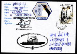 ANTARCTIC,SOUTH GEORGIA, King Edw. Point, 4.1.2002, Vignette + Cachets ,look Scan !! 27.1-124 - Antarctische Expedities