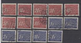 Lot B�hmen M�hren Porto Michel No. 1 - 14 gestempelt used
