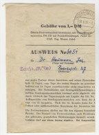 DDR Sammler Ausweis 1959