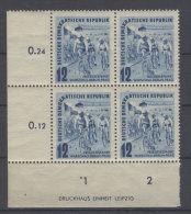 DDR Michel No. 307 ** postfrisch DZ / gefaltet
