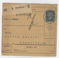 Deutsches Reich Michel No. 363 gestempelt auf Paketkarte EF