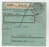 Deutsches Reich Paketkarte 1942 Geb�hr bezahlt Stempel Berlin