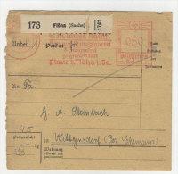 Deutsches Reich Paketkarte  Freistempel 1941