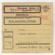 Deutsches Reich Paketkarte  Freistempel 1942