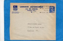 Marianne De Gandon-  Lettre Commerciale  Simca-15 Frs N° 886 Variété- Chelure Gauche  Jusqu´au Cou - Variedades Y Curiosidades