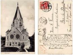 Allemagne - Elberfeld - Friedhofskirche ( Cachet D'arrivée Bar Le Duc, Mr Fraizier, Inspecteur D'académie ) - Allemagne