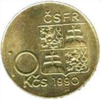 Tschecheslowakei 10 Korun 1990 - KM 139.1 - Vz - Tschechoslowakei