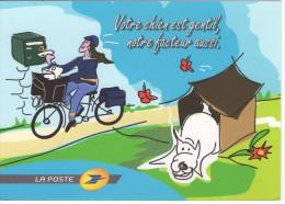 """CARTE POSTALE EMISE PAR LA POSTE """" Votre Chien Est Gentil, Notre Facteur Aussi !! """" - Poste & Facteurs"""