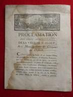 SAINT FLOUR PRINCE REBELLE LA PATRIE EN DANGER - Historische Documenten