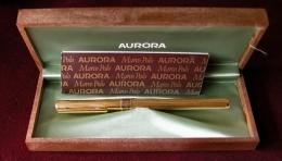 Aurora Modello Marco Polo  - Stilografica Dorata Completa Di  Scatola E Garanzia - Penne