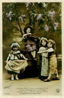 Belle Carte       -  Enfants  -  Savez Vous Ce Qu 'on Danse A Trois                   F424 Signée Croissant - Scènes & Paysages