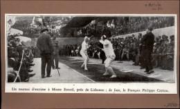 SPORTS - ESCRIME - Article Photo Tirée D'une Revue De 1930 - Vieux Papiers