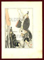 JAPAN - A JAPANESE SCENE - ORIENTAL ART - OLD PRINT - Prints