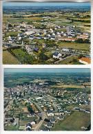 LA POMMERAIE 49 - Vue Generale Aérienne De La Nouvelle Cité - Petit Lot De 2 CPSM CPM GF - Maine Et Loire - Autres Communes