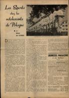 SPORTS - ESCRIME - Artcle Tiré D'une Revue (Jeunesse Magazine) - Escrime En Pologne - Vieux Papiers