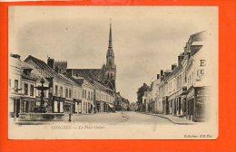 27 CONCHES : La Place Carnot - Conches-en-Ouche