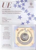 B) ITALIA LIRE 5000 ARGENTO FDC DEL 1996 UE PRESIDENZA ITALIANA - 5 000 Lire