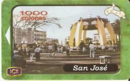 TARJETA DE COSTA RICA N�1  PROVINCIAS DE COSTA RICA SAN JOSE