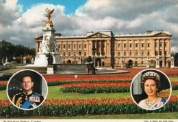 Postcard - Buckingham Palace & Members Of The Royal Family, London. 2L31 - Buckingham Palace