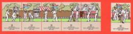 AUS SC #665a MNH STR/5 + 666 MNH, 1977 Cricket Match - 19th Century, CV $3.00 - Mint Stamps
