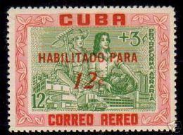 CUBA/KUBA 1960 SELLO HABILITADO REFORMA AGRARIA - Cuba