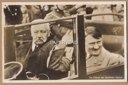 ADOLF  HITLER  Fuhrer Der Deutschen Nation With Hindenberg RP  Plt4 - Events