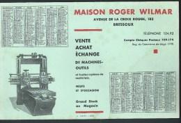 Buvard - Calendrier 1932. Maison R. Wilmar. Av. de la Croix Rouge Bressoux. Machine-Outils.