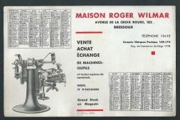 Buvard - Calendrier 1932.  Machies- Outils.Maison R. Wilmar. Av. De La Croix Rouge Bressoux. Liège. - M