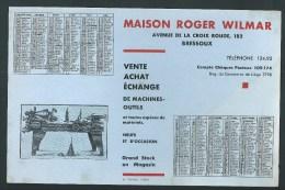 Buvard - Calendrier 1932.  Machies- Outils.Maison  Roger Wilmar. Av. De La Croix Rouge. Bressoux. - Calendriers