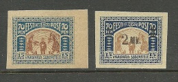 Estland Estonia 1920 Injured Soldiers Michel 22 & 26 MNH - Estonia