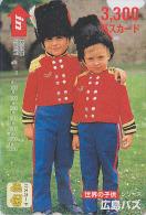 Carte pr�pay�e Japon - Enfants en Gardes Anglais - Children as BOBBIES / ENGLAND rel. Japan prepaid card - KINO Karte