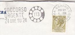 1971  ITALY Stamps COVER SLOGAN Pmk 24 Hour EMERGENCY ASSISTANCE 113, Illus TELEPHONE DIAL Telecom - Telecom