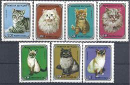 1979 MONGOLIE 998-1004** Chats - Mongolia