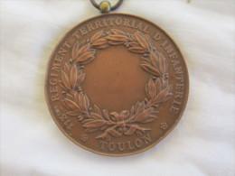 MEDAILLE EN BRONZE DU 113eme R�giment territorial d infanterie 1873 ville de Toulon