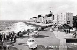 1955? VLISSINGEN Boulevard De Ruyter, Alte Autos, VW - Niederlande