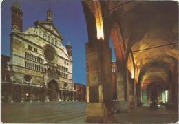 K2700 Cremona - Il Duomo e Portici del Comune - Notturno notte nuit night nacht noche / viaggiata 1990