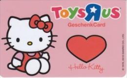 Germany - Carte Cadeau - Gift Card - Toys R Us - Hello Kitty - Cat - Katze - Comic - Frankreich