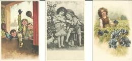 # 3 Postkaarten - Un Used - Niet Gelopen - Repro. Retro - Lot Nr. 187 - Dessins D'enfants