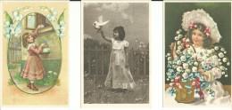 # 3 Postkaarten - Un Used - Niet Gelopen - Repro. Retro - Lot Nr. 190 - Dessins D'enfants