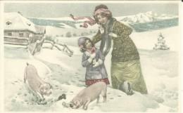 # 1 Postkaarten - Un Used - Niet Gelopen - Repro. Retro - Lot Nr. 192 - Dessins D'enfants