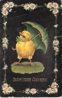 AK 0037  Fröhliche Ostern - Gold-Prägekarte Um 1910 - Ostern