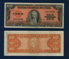 CUBA : 100 pesos 1959. pk.93 a.  UNC.NEUF.SC.