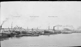 I1 - SAIGON Navires Et Quais Le Long De La Rivière 1941 - Negatif Photo Original Indochine Vietnam - Boats