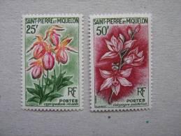 S P M     P 362/363 * *  . FLEUR  ORCHIDEE - Neufs