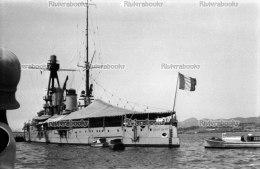 I1 - TOULON Cuirass� JEAN BART � l'ancre - negatif photo original, navire de guerre