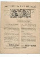 Revue , L'AUVERGNE AU PAYS NORMAND ,1937 ,  NOSTRE BRAVE PAÏS , 4 Pages - Auvergne